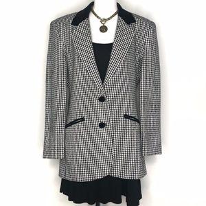 VTG CCF Black & White Houndstooth Blazer A150665